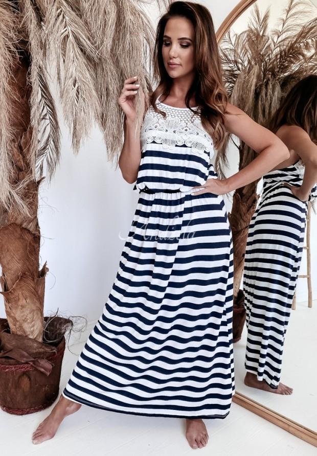 Šaty Felicy White&Navy
