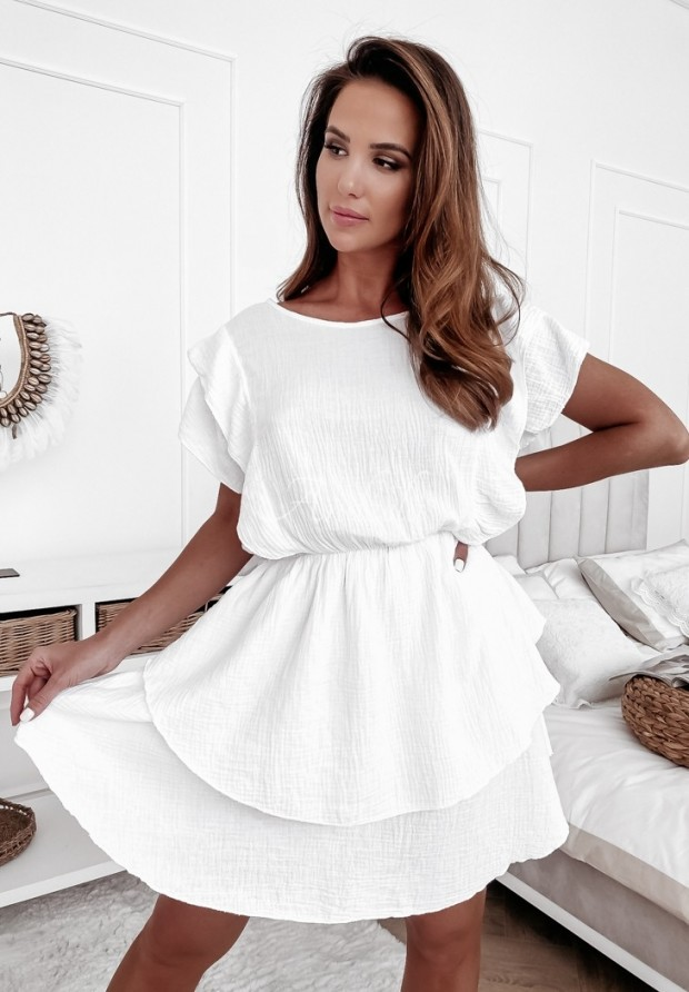 Šaty Cansi White
