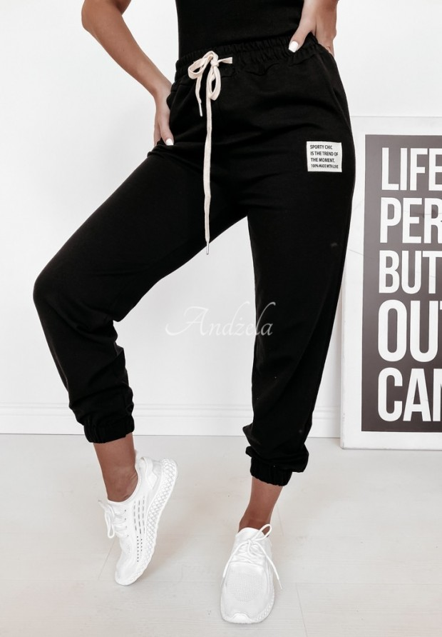 Nohavice Teplákové Sporty Chic Black