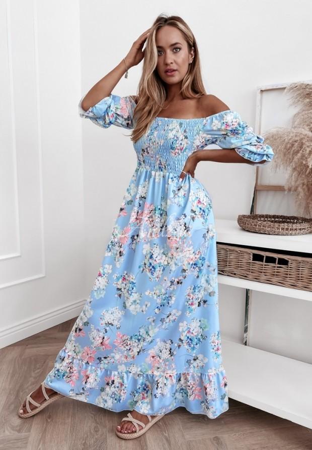 Šaty Španielsky Camellia Baby Blue