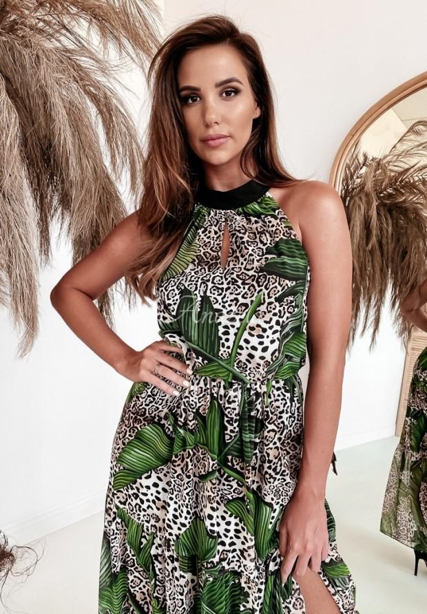 Šaty Leoparde Black