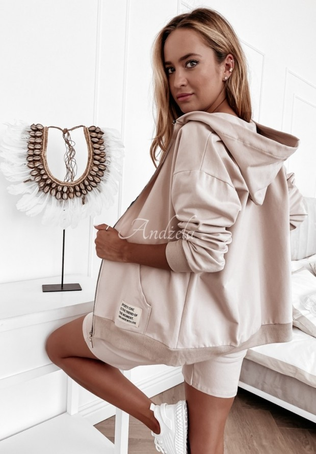 Mikina Sporty Chic Nude