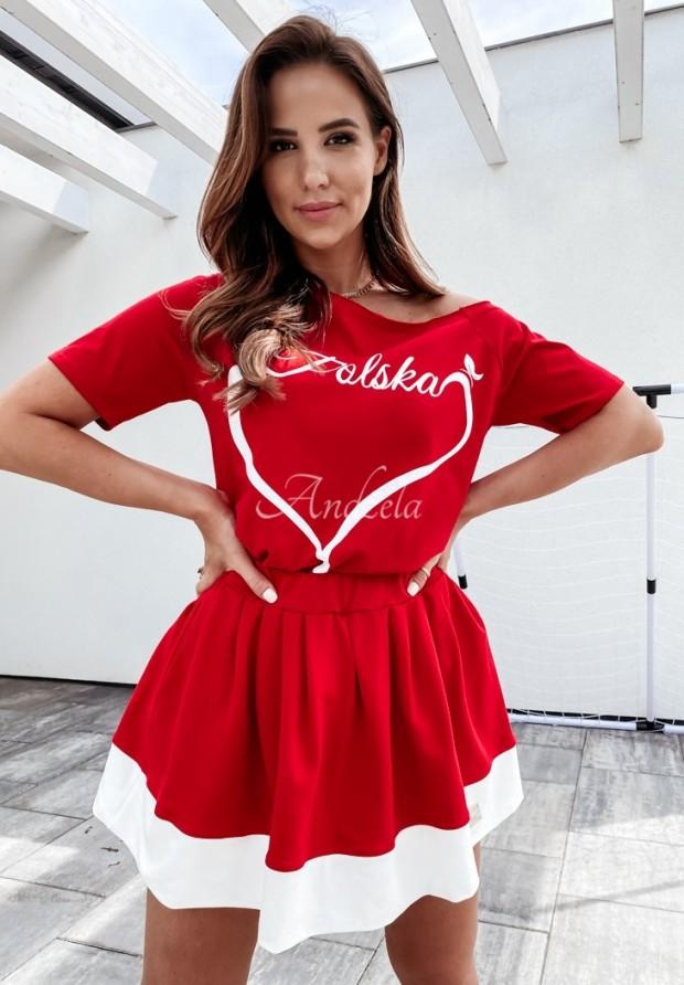 Sukňa Cheer Red&White