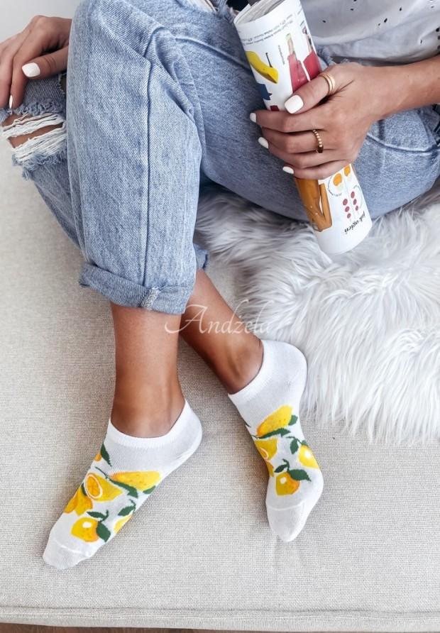 Ponožky Lemon White