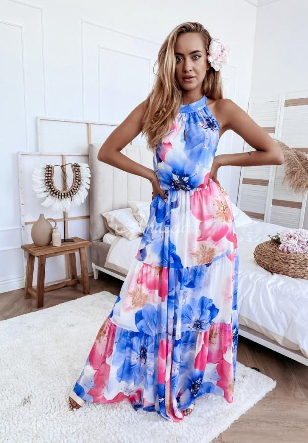 Šaty Linella Blue&Pink