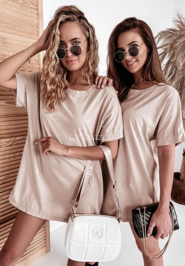 Tričko Oversize Simple Beige