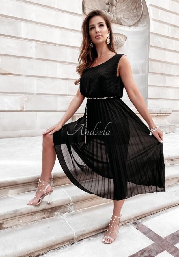 Šaty Plisa Madelyn Black