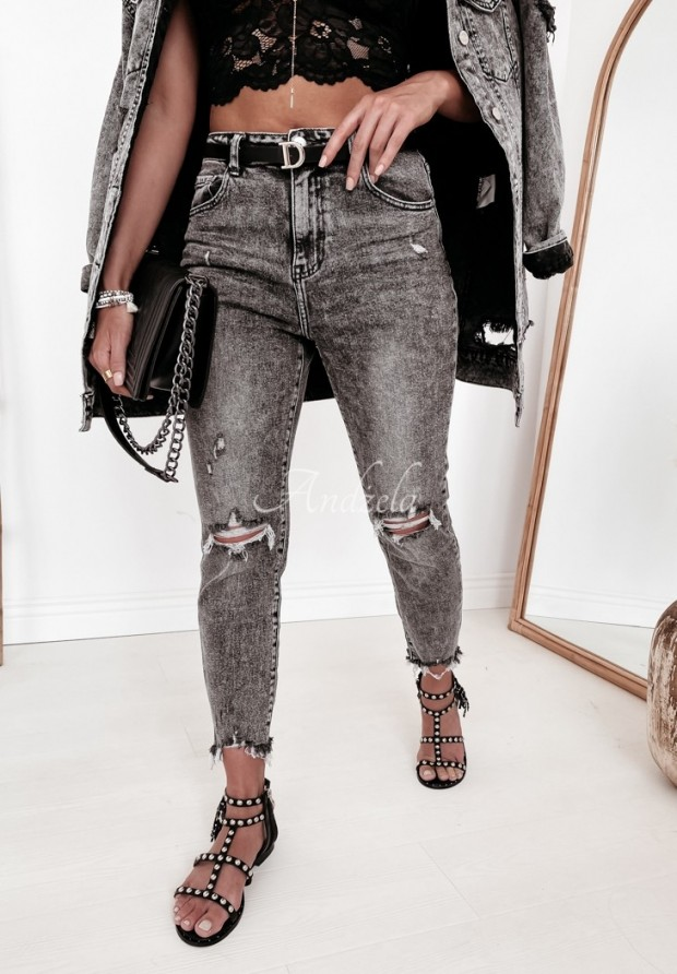 Nohavice Jeans Aldin Dark Grey