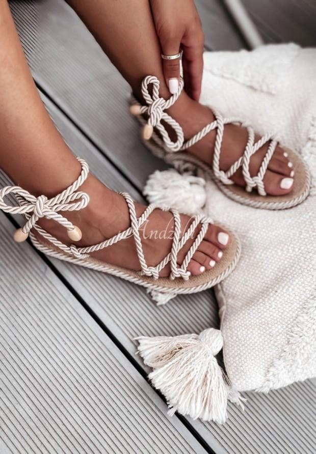 Sandále Nivella Natural