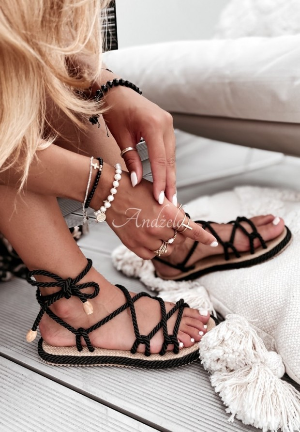 Sandále Nivella Black