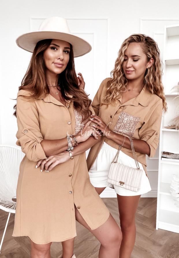 Košeľa Tunika Lorete Camel