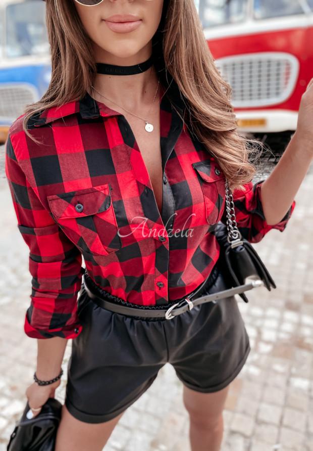 Košeľa Káro Louvre Black&Red