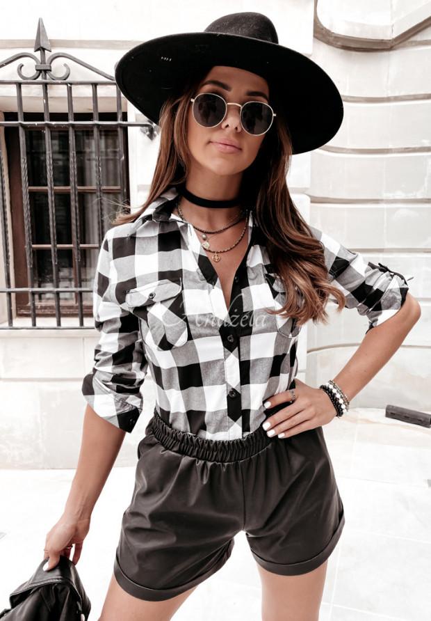 Košeľa Káro Louvre Black&White