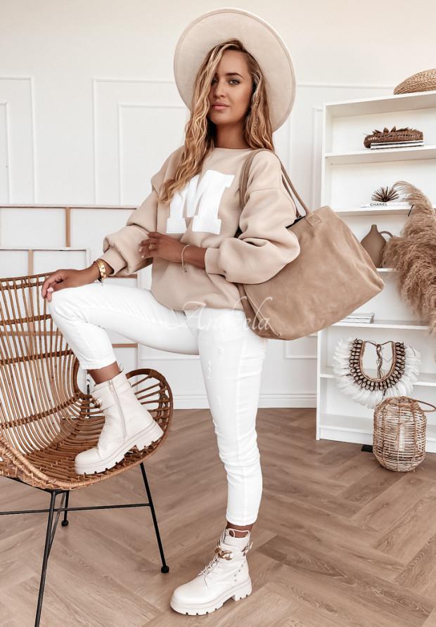 Nohavice Jeans Maple White