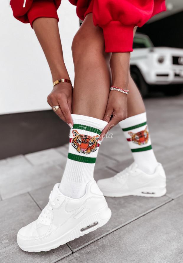 Ponožky Tiger White