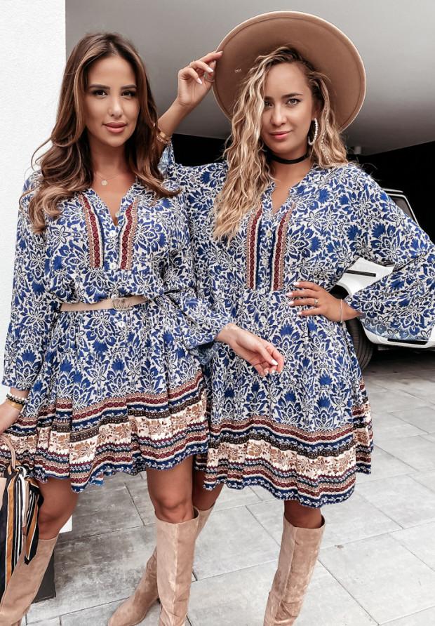 Šaty Avanga Blue&Brown