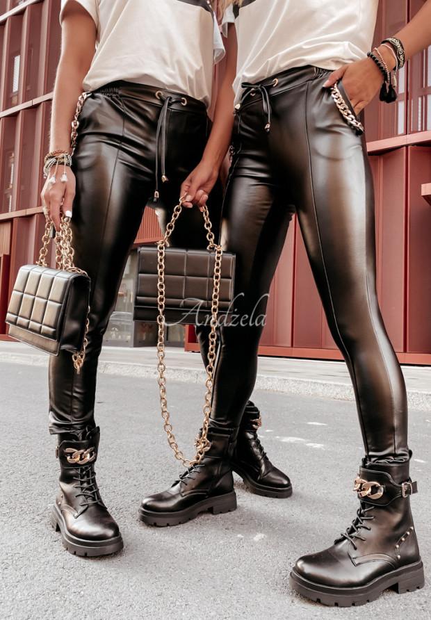 Nohavice Z Imitace Kůže Maryville Black