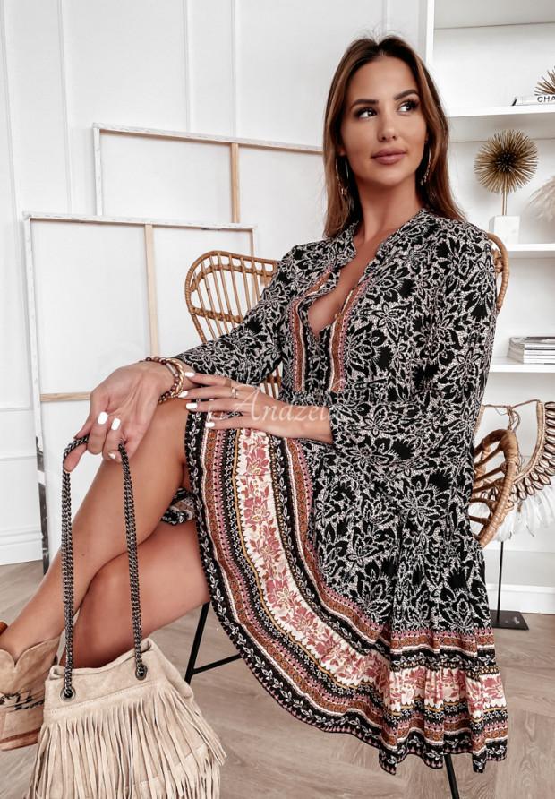 Šaty Avanga Black&Brown