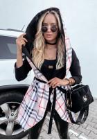 Kabát Bethany Káro Black