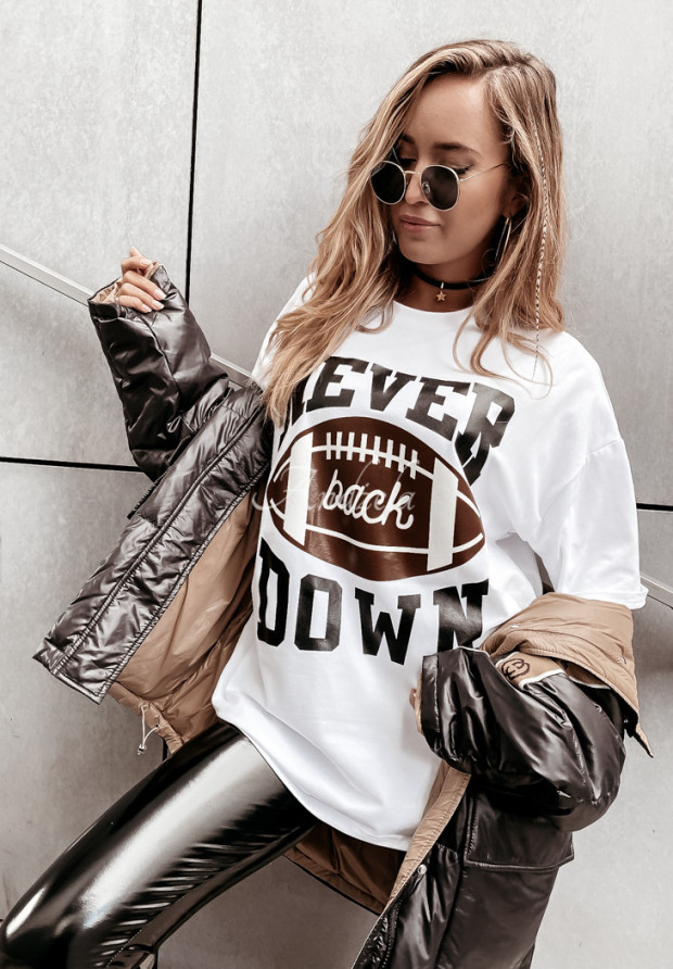 Tričko Oversize Never White