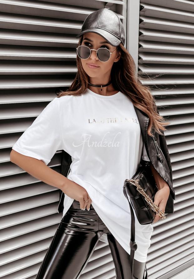 Tričko Oversize Lalu Label White