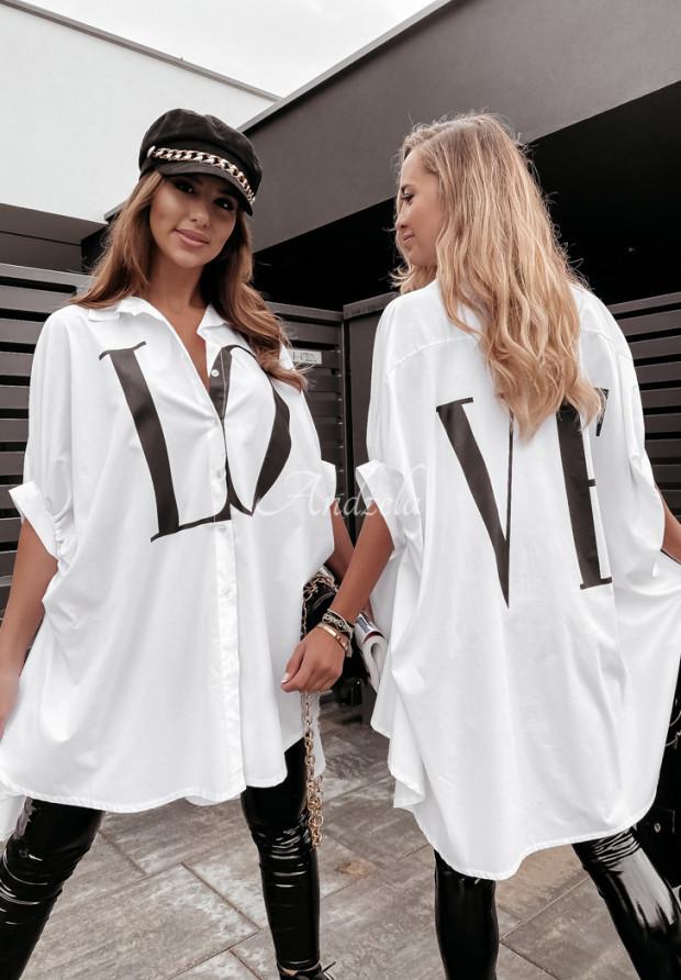 Košeľa Oversize Love White