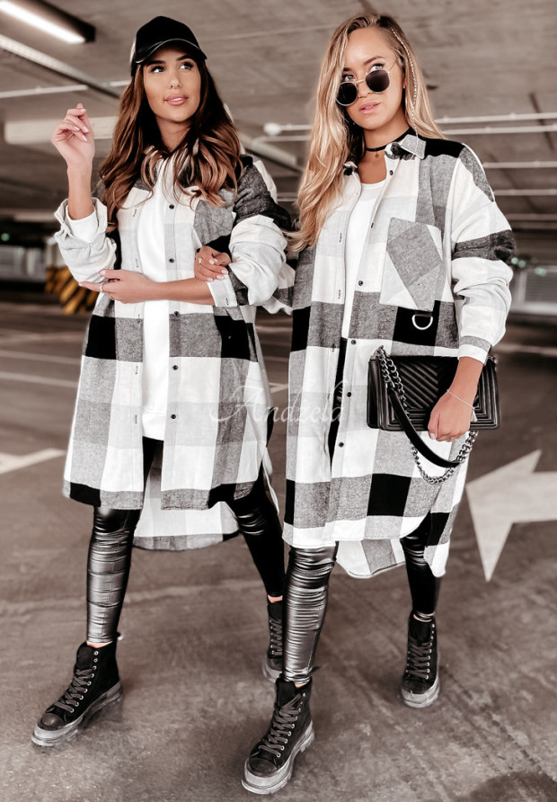 Šaty Košeľa Oversize Virginia Black&Grey