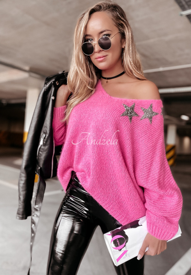 Sveter Oversize Starry Pink
