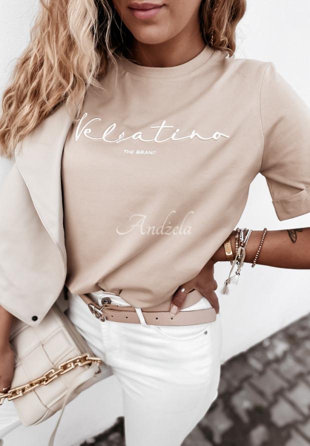 Tričko Velsatino Brand Beige