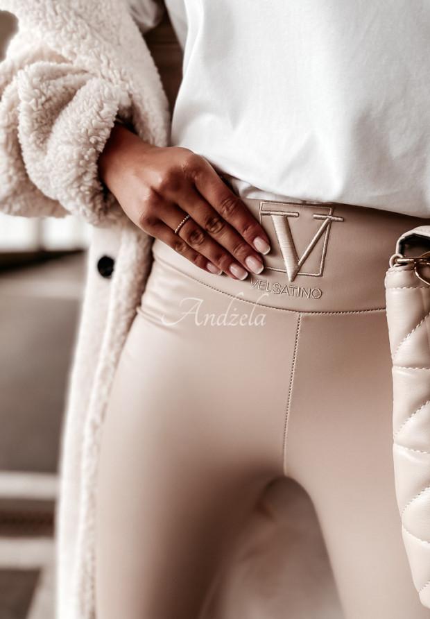 Nohavice Z Imitace Kůže Velsatino Lia Nude