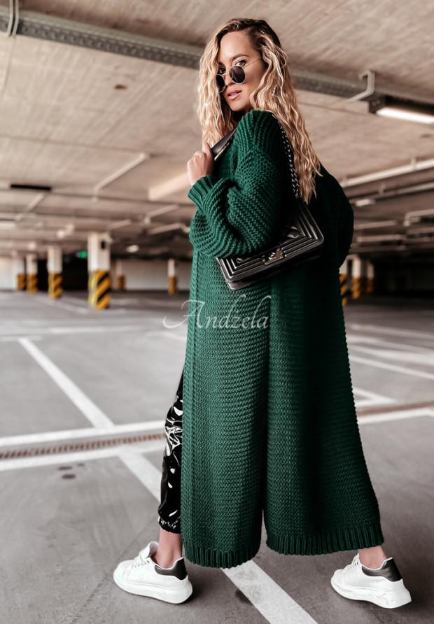 Sveter Kardigan Ella Bottle Green