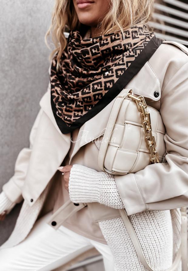 Šatky Tiffany Black&Camel
