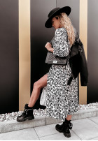 Šaty Andrea Long Black&Ecru
