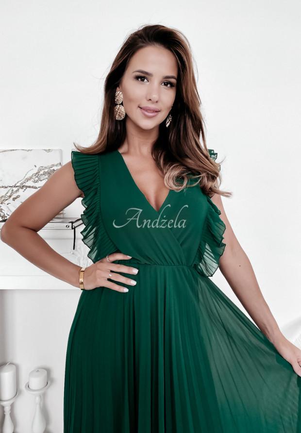 Šaty Plisa Arania Bottle Green