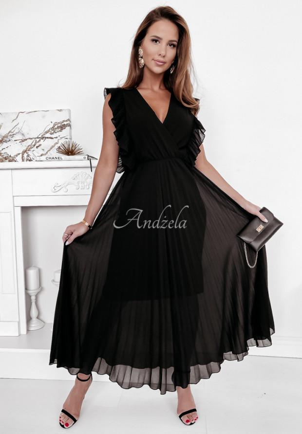 Šaty Plisa Arania Black