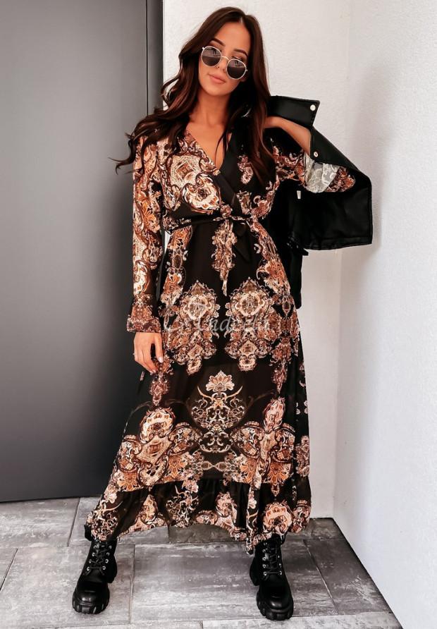 Šaty Enebia Black&Brown