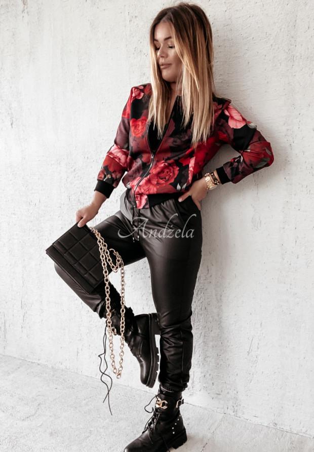 Mikina Bomberka Red Rose Black