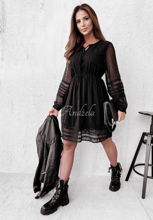 Šaty Boho Norah Black