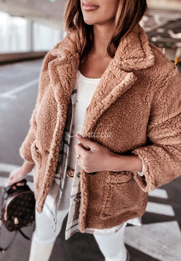 Kabát Kožuch Visto Camel