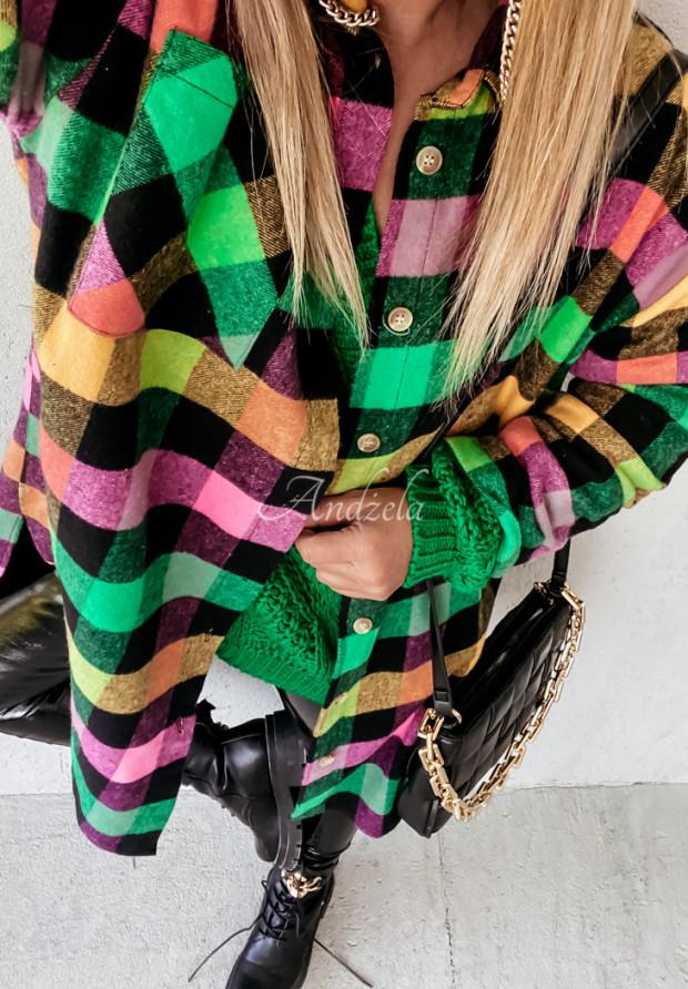 Šaty Košeľa Káro Abby Color