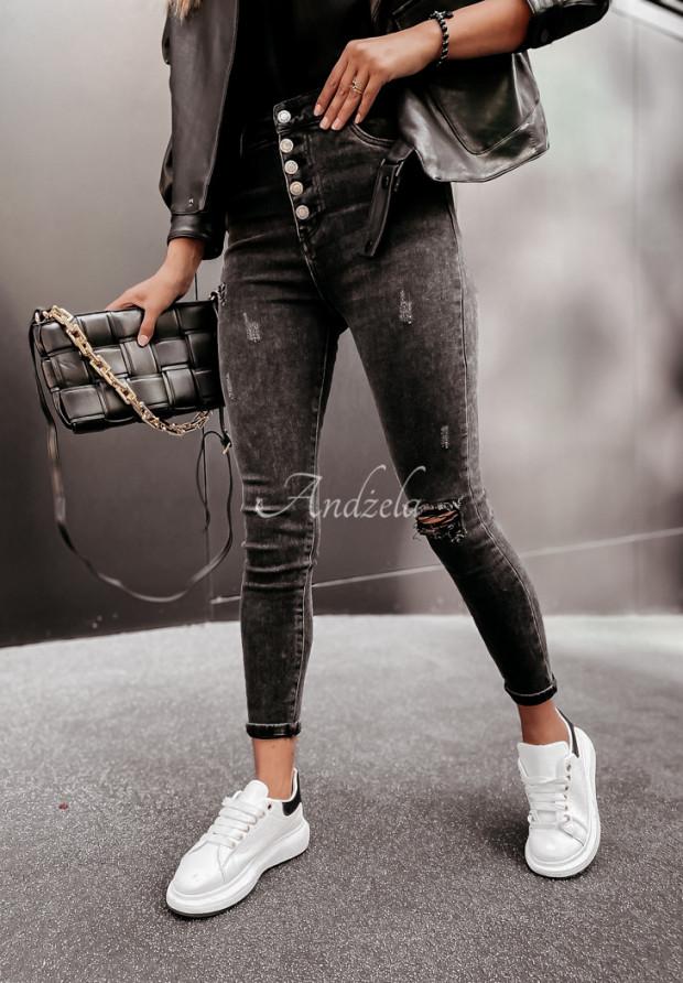 Nohavice Jeans Asdella Dark Grey