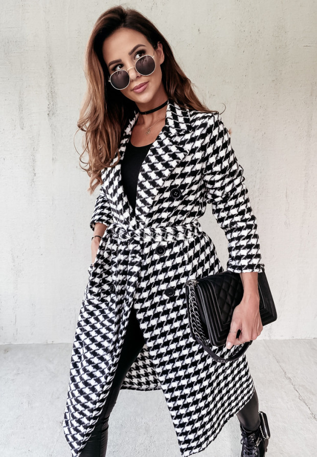 Kabát Pepitka Fairmont Black&White