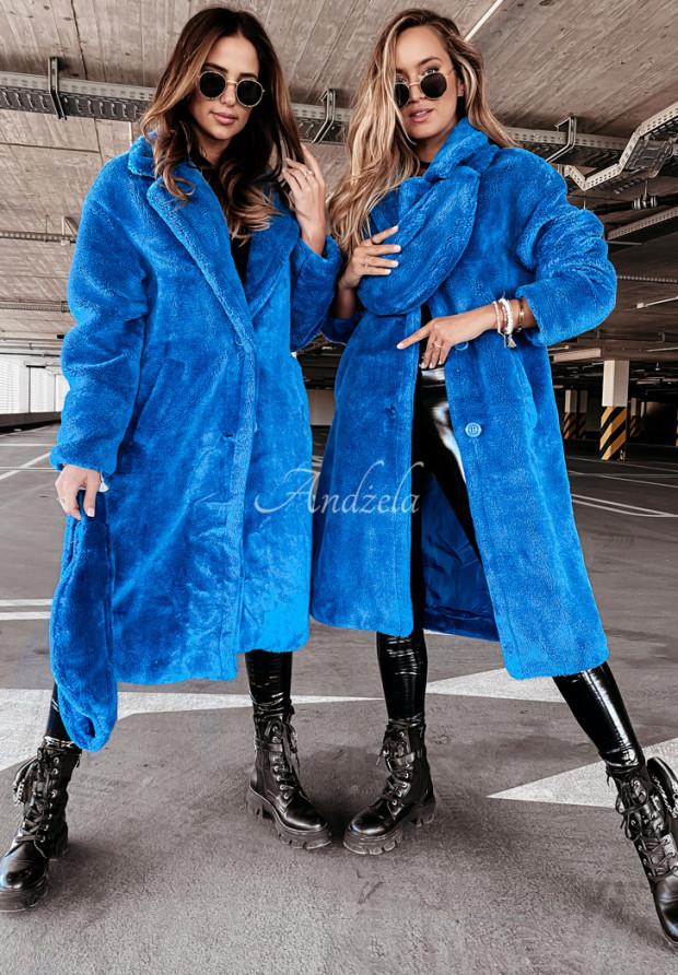 Kabát Kožuch z Nerką Furry Blue