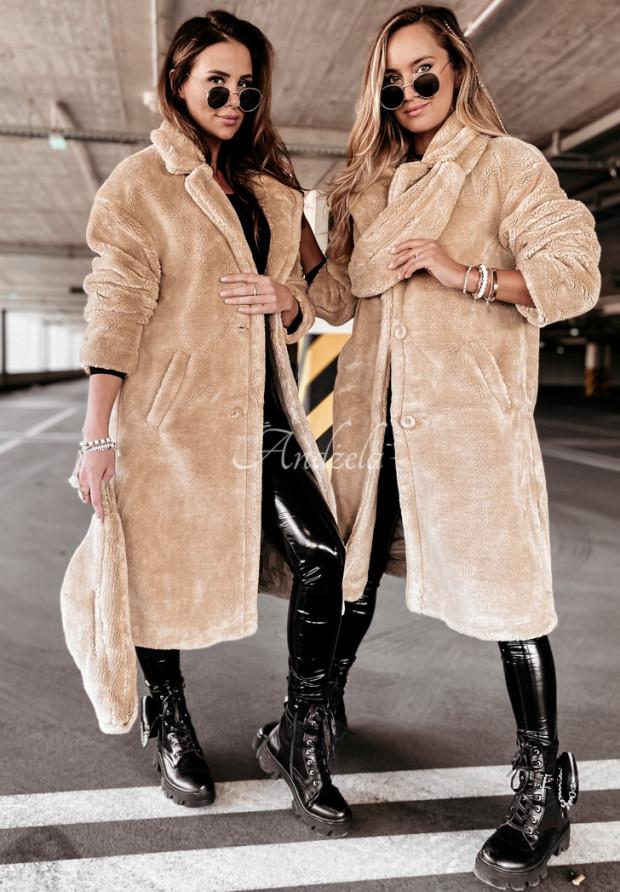 Kabát Kožuch z Nerką Furry Beige