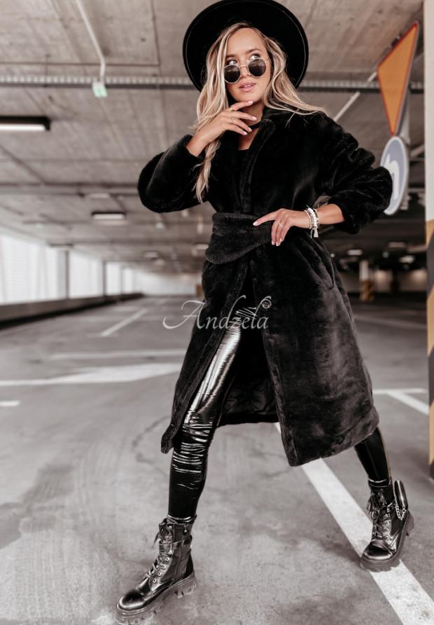 Kabát Kožuch z Nerką Furry Black