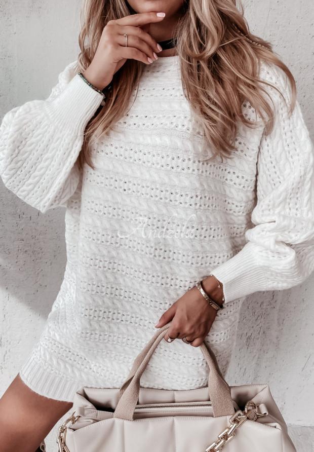 Sveter Oversize Knitty Ecru