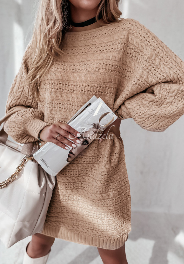 Sveter Oversize Knitty Camel