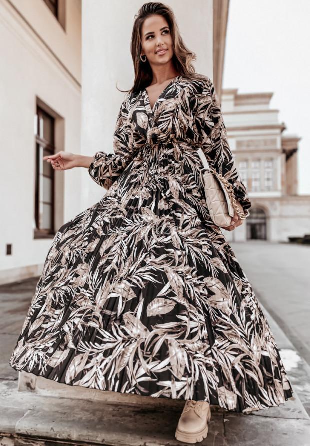 Šaty Plisa Lazzare Black