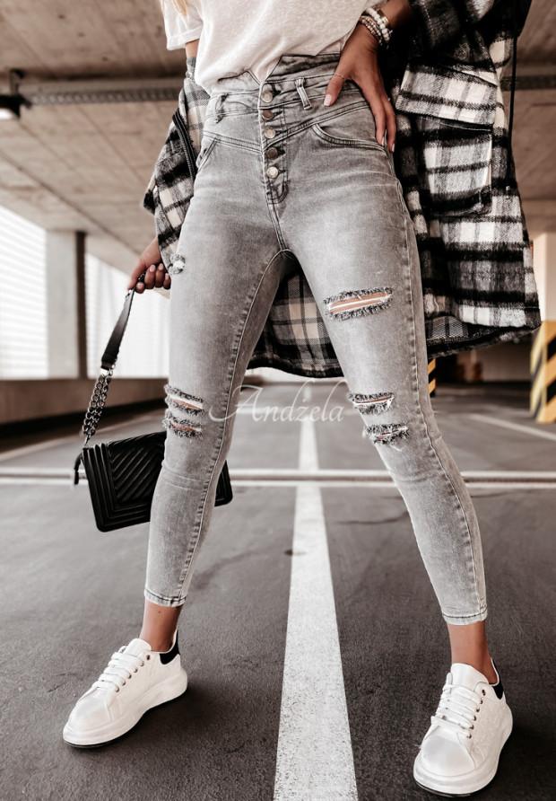 Nohavice Jeans Mavis Grey