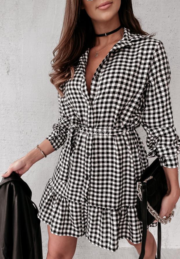 Šaty Káro Viridiana Black&White
